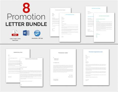 promotion template sle promotion letter 8 free documents in pdf