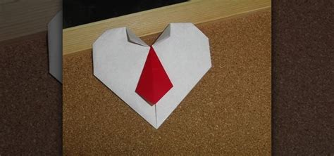 Valentines Day Origami - how to craft an origami with a necktie for