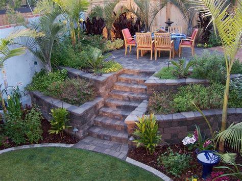 backyard on a slope landscape ideas for a slope www pixshark com images
