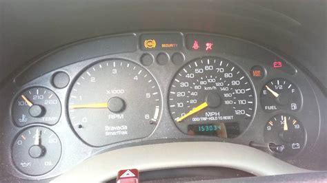 dash warning lights problem  oldsmobile bravada youtube