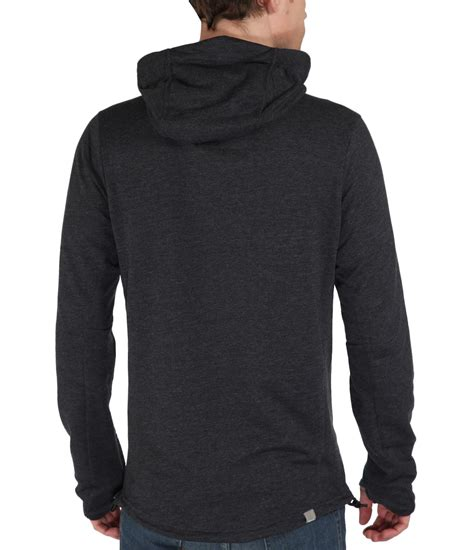 bench mens hoodie bench achiever plain zip thru hoodie in black for men lyst