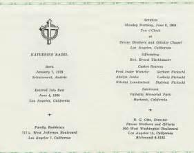 Funeral Mass Program Template by Catholic Funeral Mass Program Template
