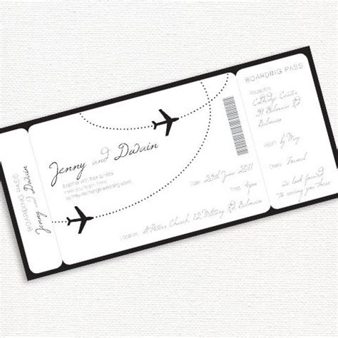 Come With Me Wedding Invites by Come Fly With Me Boarding Pass Wedding Invitation
