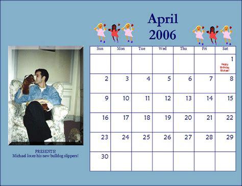 April 2006 Calendar Michael Praed Chest Hair Moments 2006 Calendars