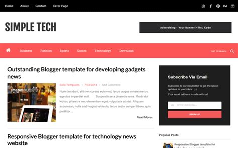 blogspot themes tech awesome list of best free blogger templates check now