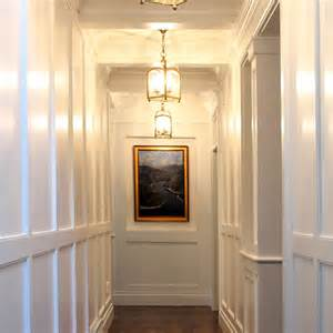 White Wainscoting With Wood Trim Full Wall Wainscoting Design Ideas