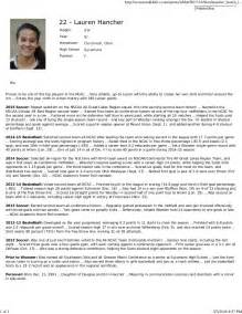 Student Profile Form Essay by Biography Sle 1 Student Athlete Profile