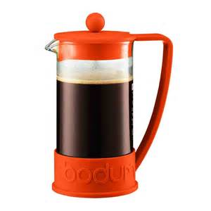 Coffee Pres bodum brazil press 34 oz orange plunger coffee maker
