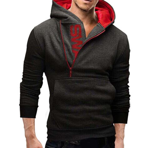 Jaket Sweater Hoodie Jumper Fitnes winter slim warm hooded sweatshirt coat hoodie jacket outwear sweater ebay
