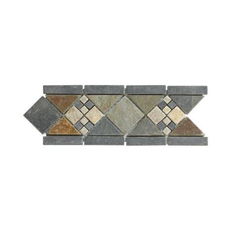 4 X 12 Slate Tile by Jeffrey Court Yacht Harbor 4 In X 12 In X 8 Mm Slate