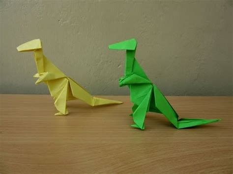How To Make At Rex Out Of Paper - how to make a paper tyrannosaurus rex easy tutorials