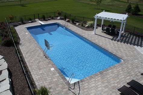 completed inground swimming pools landscaping