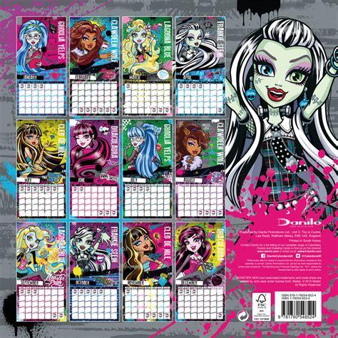 calendario de 2017 para modular monster high monster high calendarios 2018