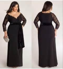 black plus size lace long sleeve sheath chiffon evening