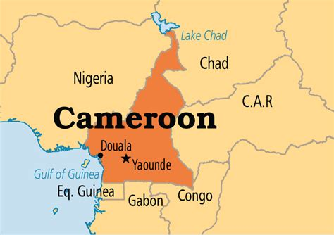 cameroon in world map cameroon operation world