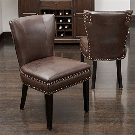 kitchen accent furniture best selling jackie leather accent dining chair brown furniture chairs kitchen room chairs