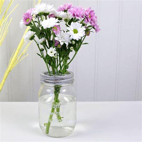 Jar Flower Vase by Personalised Rustic Jar Flower Vase By