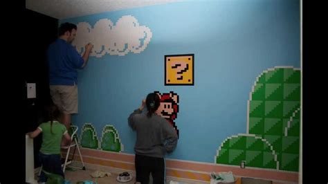 Idea Bed by Super Mario Room Mural Youtube