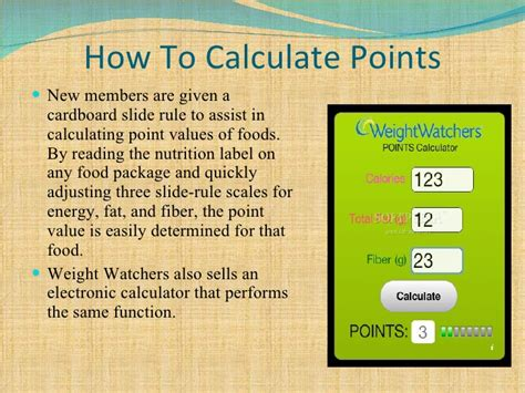 how to calculate your weight watchers points weight watchers point values mloovi blog