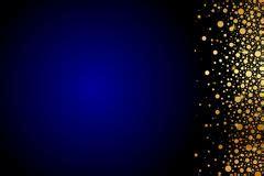 glitter vintage lights background. gold, silver, blue and