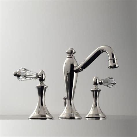 crystal bathroom faucets 2520yc santec lear crystal widespread lavatory faucet