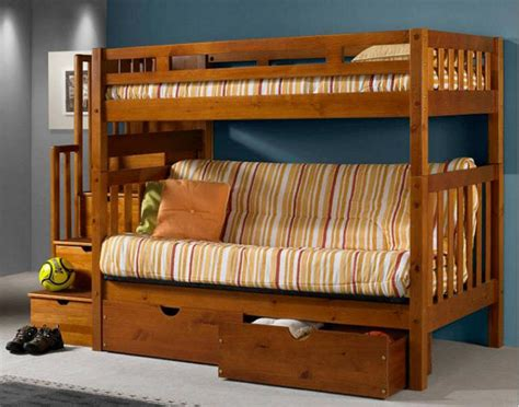 bunk bed with futon bottom bm furnititure