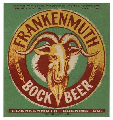 frankenmuth bock beer label print – michiganology