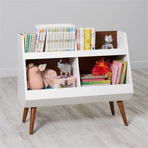 next chapter modern bookcase walnut white the land of nod