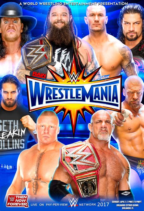 Wwe Wrestlemania 33 Kickoff 2017 2 Wwe Wrestlemania 2017 Poster By Dinesh Musiclover On Deviantart