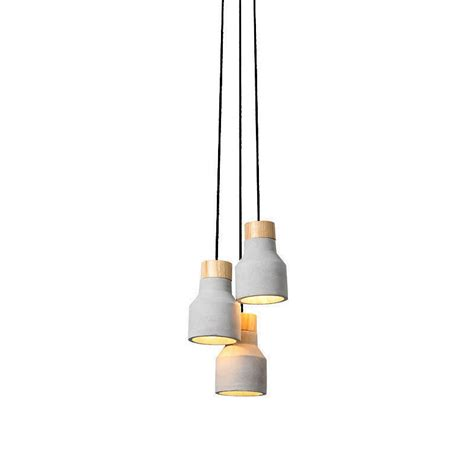 concrete and wood pendant light concrete pendant lighting independent design 1or3 light