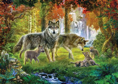 Jungle Duvet Summer Wolf Family Photograph By Jan Patrik Krasny