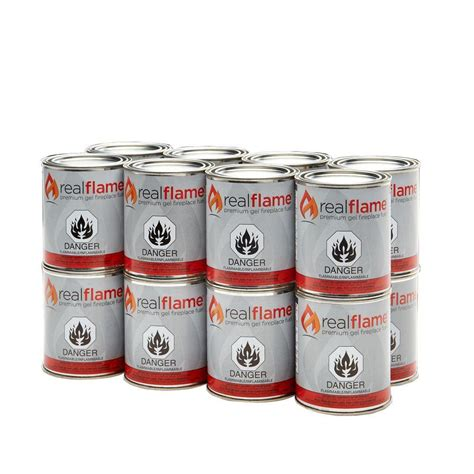 Fireplace Gel Fuel Cans by Real 13 Oz 18 5 Lb Gel Fuel Cans 16 Pack Shop