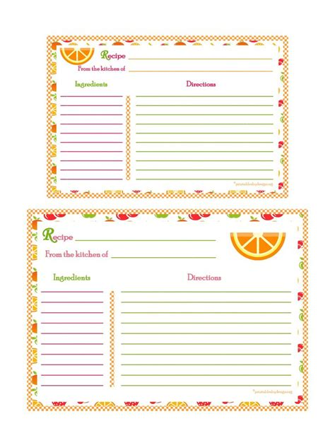 5x7 Card Template For Mac by 1000 Images About Recipe Cards On Recipe