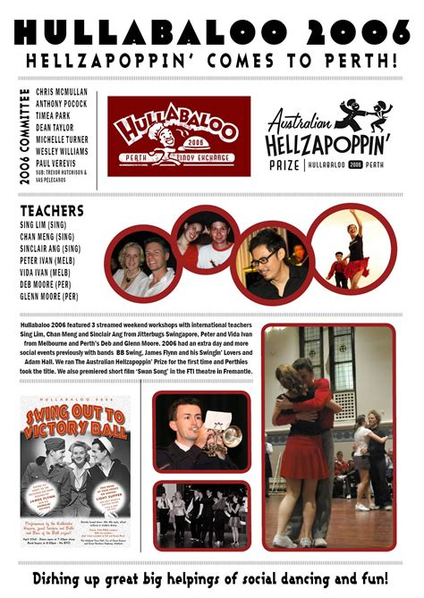 perth swing dance society history perth swing dance society