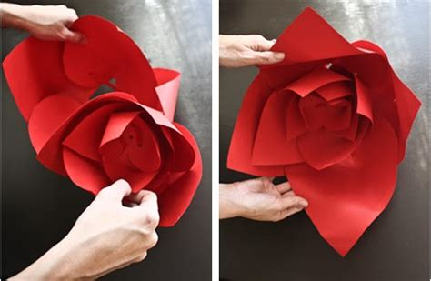paper flower tutorial blog always andri wedding design blog diy giant paper flowers