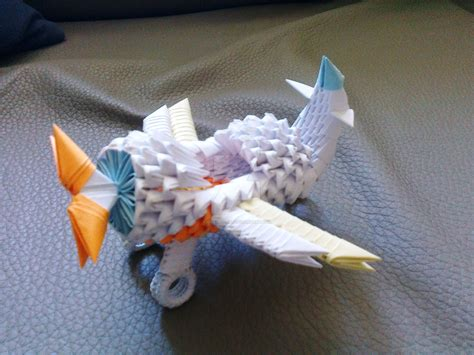 3d Origami Airplane - origami 3d airplane by ideando on deviantart