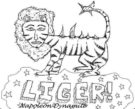 Napoleon Dynamite Coloring Pages Coloring Pages Liger Coloring Pages