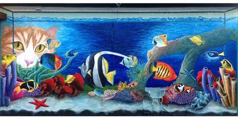 aquarium wall mural arts studio suzanne gayle mural hayward california