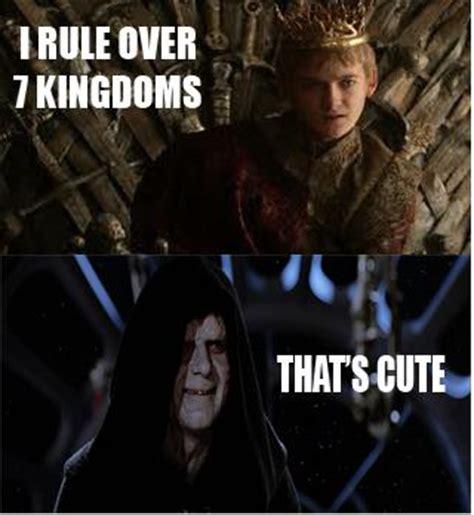 Star Wars Game Of Thrones Meme - star wars vs game of thrones le clash en memes images