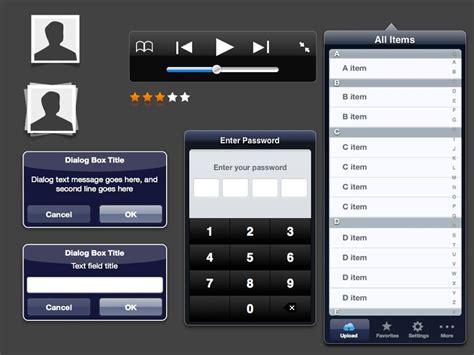 Ipad App Storyboard Template