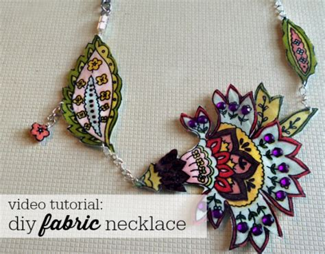 how to make fabric jewelry diy fabric statement necklaces