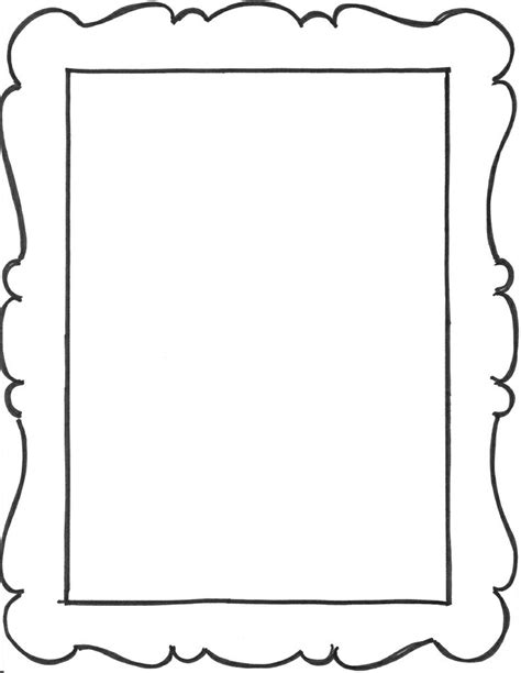 frame outline template outlines free clip free clip