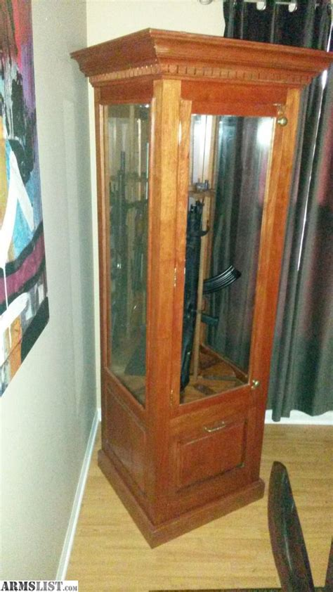 solid wood gun cabinet for sale trade gun cabinet solid wood holds 8 rifle s