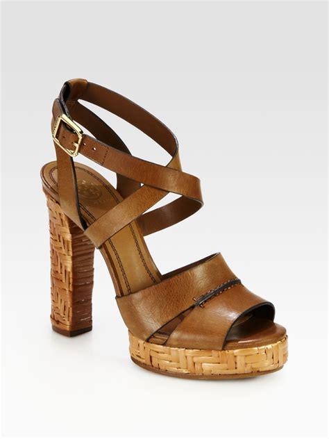 burch platform sandals burch vanetta leather raffia platform sandals in