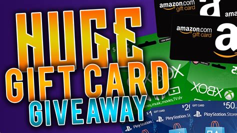 Giveaway Gift Card - huge gift cards giveaway psn cards xbox codes steam cards amazon cards more