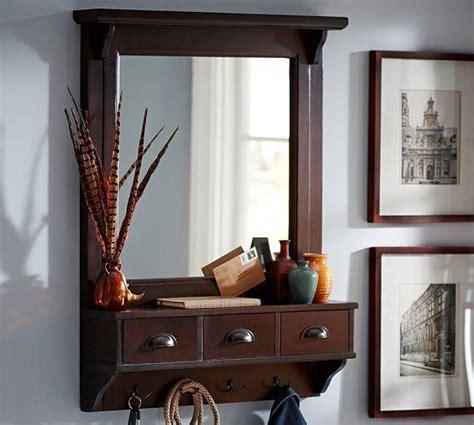 entryway wall organizer wall mount entryway organizer mirror from pottery barn