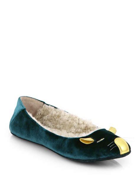 marc slippers marc by marc sleeping mouse velvet slippers in