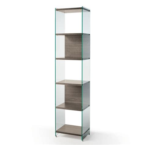 libreria a colonna design libreria a colonna byblos202 in vetro e laminato 202 cm