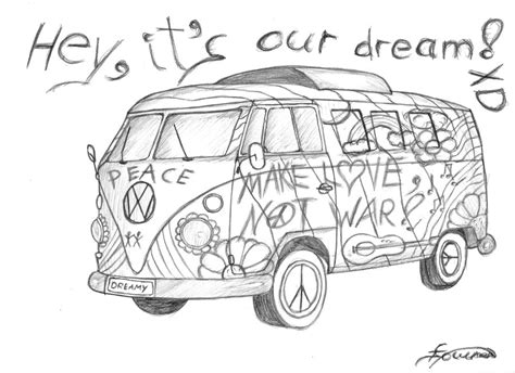 hippie volkswagen drawing hippie van free coloring pages
