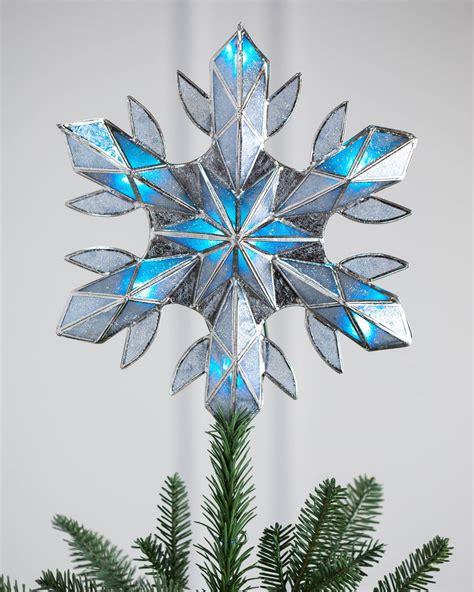 lighted capiz tree topper capiz snowflake lighted tree topper balsam hill